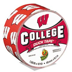 "College DuckTape, University of Wisconsin Badgers, 1.88"" x 10 yds, 3"" Core"