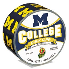 "College DuckTape, University of Michigan Wolverines, 1.88"" x 10 yds, 3"" Core"