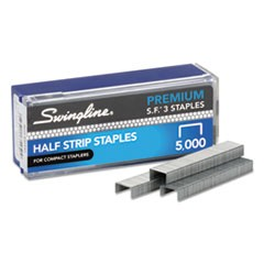"1S.F. 3 Premium Staples, 0.25"" Leg, 0.5"" Crown, Steel, 5,000/Box"