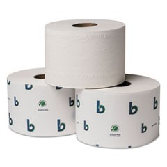 1Boardwalk Green Xtra Controlled Bath Tissue, Septic Safe, 2-Ply, White, 3.75 x 3.5, 1000/Roll, 1728/Pallet