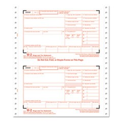 W-2 Tax Forms, 6-Part Carbonless, 5 1/2 x 8 1/2, 24 W-2s & 1 W-3