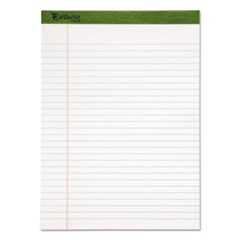Earthwise by Oxford Recycled Pad, Wide/Legal Rule, 8.5 x 11.75, White, 50 Sheets, Dz