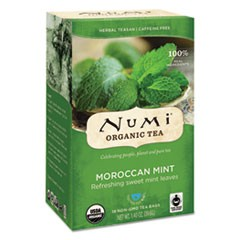 Organic Teas and Teasans, 1.4oz, Moroccan Mint, 18/Box