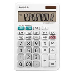 EL-334W Large Desktop Calculator, 12-Digit LCD