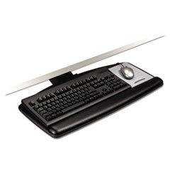 Knob Adjust Keyboard Tray With Standard Platform, 25.2w x 12d, Black