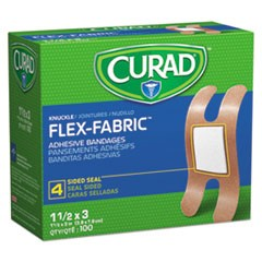 Flex Fabric Bandages, Knuckle, 100/Box