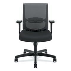 Convergence Mid-Back Task Chair with Swivel-Tilt Control, Supports up to 275 lbs, Black Seat, Black Back, Black Base