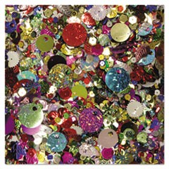 Sequins and Spangles, Assorted Metallic Colors, 4 oz/Pack