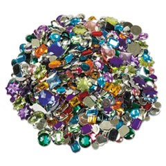 Creativity Street Acrylic Gemstones, Assorted Colors, Assorted Sizes, 1 lb.