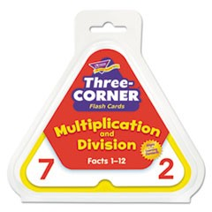 1Multiplication/Division Three-Corner Flash Cards, 8 & Up, 48/Set