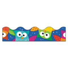 "Bolder Borders and Terrific Trimmers, Owl/Stars, 2 1/4"" x 39 ft"