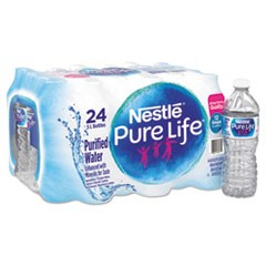 Pure Life Purified Water, 16.9 oz Bottle, 24/Carton