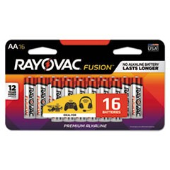 Fusion Advanced Alkaline Batteries, AA, 16/Pack