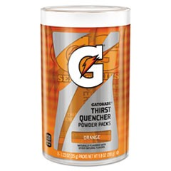 Thirst Quencher Powder Drink Mix, Orange, 1.34oz Stick, Makes 20oz Drink, 64/Carton