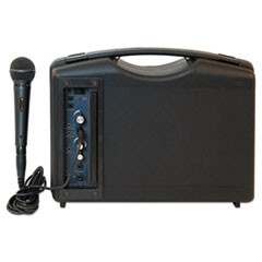 1Bluetooth Audio Portable Buddy with Wired Mic, 50W, Black