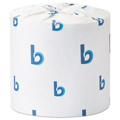 1Office Packs Standard Bathroom Tissue, Septic Safe, 2-Ply, White, 504 Sheets/Roll, 80 Rolls/Carton