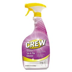 Crew Shower Tub and Tile Cleaner, Fresh Scent, 32 oz Spray Bottle, 8/Carton