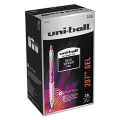 207 Retractable Gel Pens - Office Pack, Black Ink, Medium, 36/PK