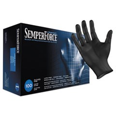 SemperForce Gloves, Black, Large, 1000/Carton