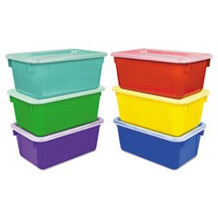 1Cubby Bins, 12.25 x 7.75 x 5.13, Assorted, 6/Pack