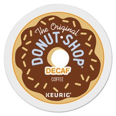 Donut Shop Decaf Coffee K-Cups, 22/Box