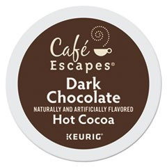 Caf� Escapes Dark Chocolate Hot Cocoa K-Cups, 24/Box