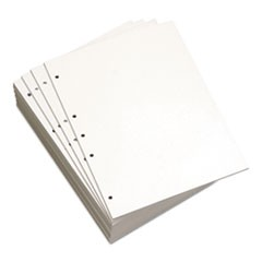Custom Cut-Sheet Copy Paper, 20 lb, 8 1/2 x 11, White, 5-Hole Left, 1 RM