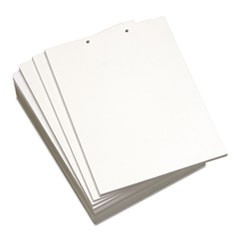 Custom Cut-Sheet Copy Paper, 20 lb, 8 1/2 x 11, White, 2-Hole Top, 500 sheets/RM