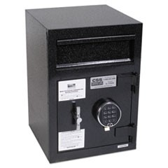 Depository Security Safe, 0.95 cu ft, 14 x 15.5 x 20, Black