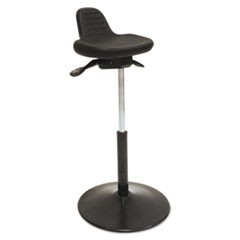 Pneumatic Sit-Stand Stool, Black, Polyurethane