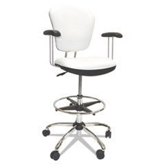 Lab and Healthcare Seating, White, Vinyl