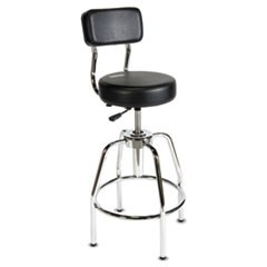 Heavy-Duty Shop Stool, Black, Vinyl