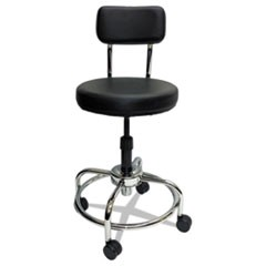 Lab and Healthcare Stool, Black, Vinyl