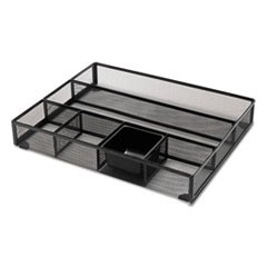 1Metal Mesh Drawer Organizer, 15 x 11 7/8 x 2 1/2, Black