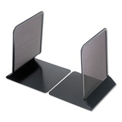 "Metal Mesh Bookends, 5 3/8"" x 6 3/4"", Black"