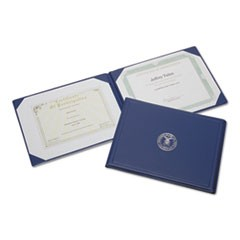 7510001153250, Award Certificate Binder, 8 1/2 x 11, Air Force Seal, Blue/Silver