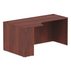 Alera Valencia Corner Credenza Shells, 65w x 35.38d x 29.5h, Left, Medium Cherry
