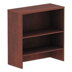 Alera Valencia Series Hutch, 34.13w x 15d x 35.38h, Medium Cherry