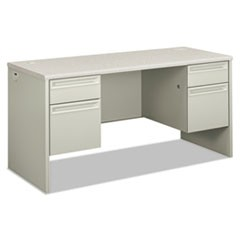 38000 Series Kneespace Credenza, 60w x 24d x 29 1/2h, Silver Mesh/Light Gray