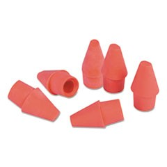 1Pencil Cap Erasers, Pink, Elastomer, 150/Pack