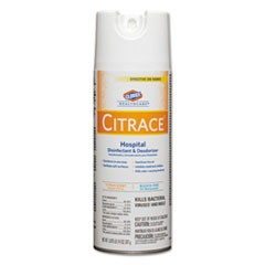 Citrace Hospital Disinfectant & Deodorizer, Citrus, 14oz Aerosol,