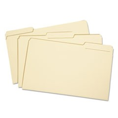 7530002822508, Light-Duty File Folder, 1/3 Cut, Legal, Manila, 100/Box
