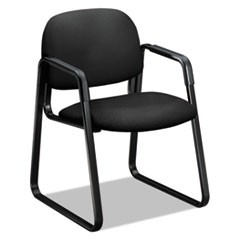 "Solutions Seating 4000 Series Sled Base Guest Chair, 23.5"" x 26"" x 33"", Black Seat, Black Back, Black Base"