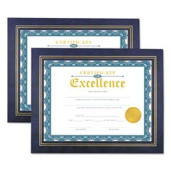 Leatherette Document Frame, Certificate/Document, 11 x 8 1/2, Blue, 2/Pack