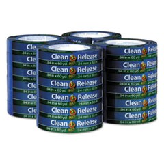 "Clean Release Painter's Tape, 0.94"" x 60 yds, 3"" Core, Blue, 24 per pack"