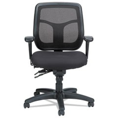 Apollo Multi-Function Mesh Task Chair, Silver Fabric Seat/Silver Mesh Back