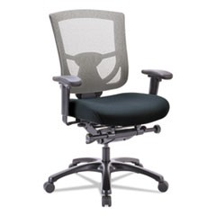 600 Mesh-Back Multifunction Chair, Black Fabric Seat/Slate Mesh