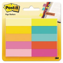 Page Flag Markers, Assorted Bright Colors, 50 Sheets/Pad, 10 Pads/Pack
