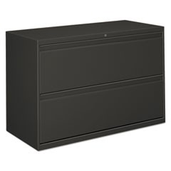 Two-Drawer Lateral File Cabinet, 42w x 18d x 28h, Charcoal