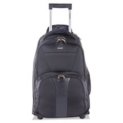 "Gregory RFID Business BackPack on Wheels, 13"" x 20.5"" x 10"", Polyester, Black"